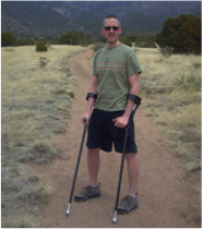 Dave Bexfield hiking in Albequerque, NM